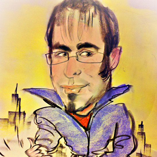 me, drawn by a great sketch artist by Times Square